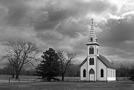 Image: White Country Church by Mark Van Scyoc, via muse-decor.com