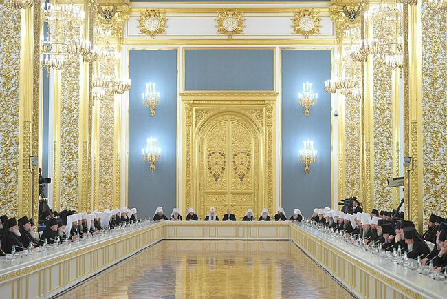 President Putin meets with delegates to the Bishops' Council, February 1, 2013.Photo: the Presidential Press and Information Office, The Kremlin.