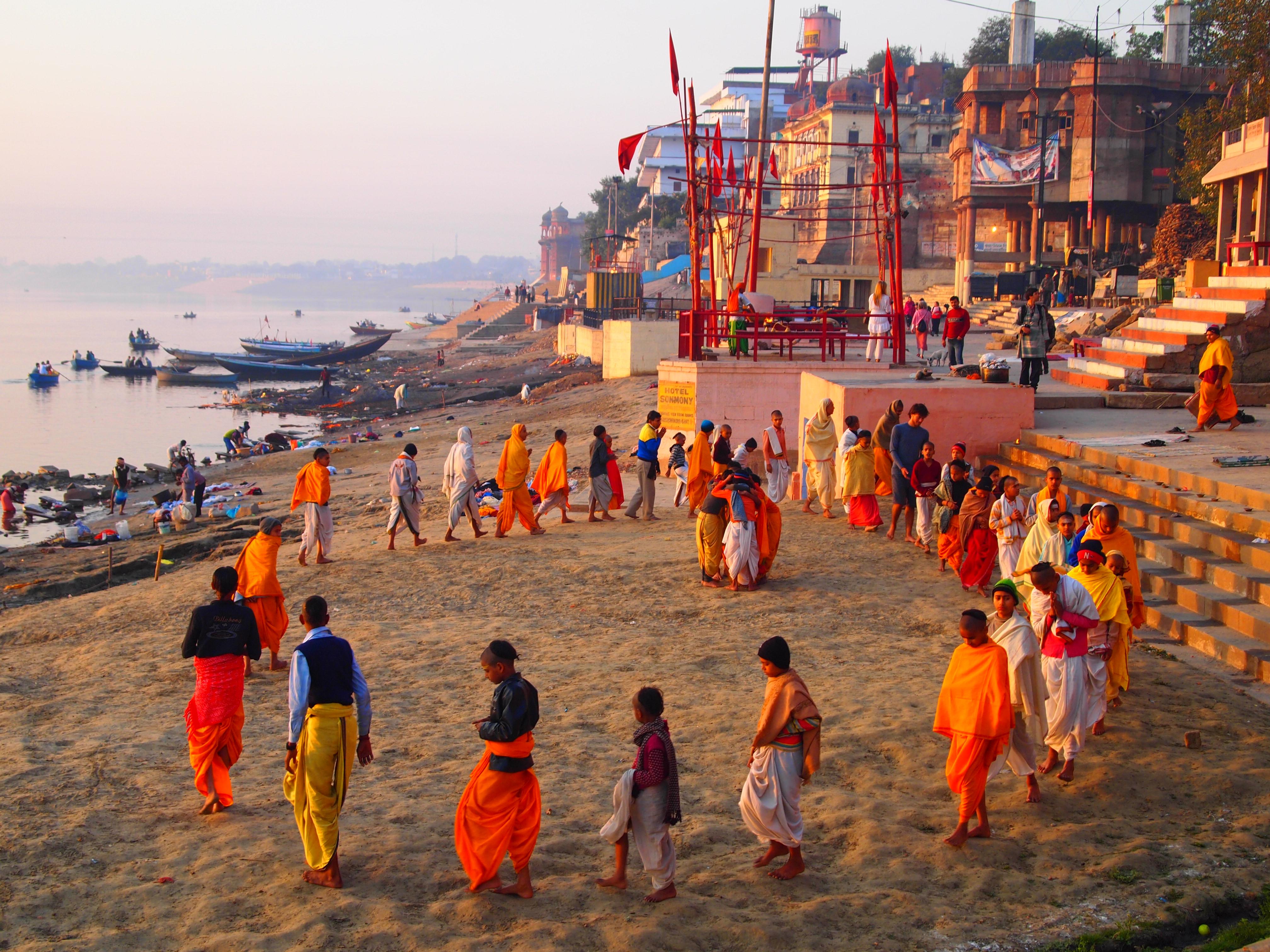 Morning in Varanasi, India. Photo by Rosie via http://rosie101010.wordpress.com/