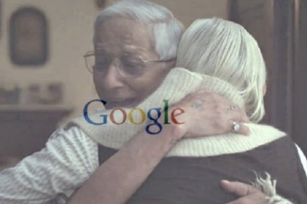 "Still image from the Google commercial ""Google Search: Reunion"""