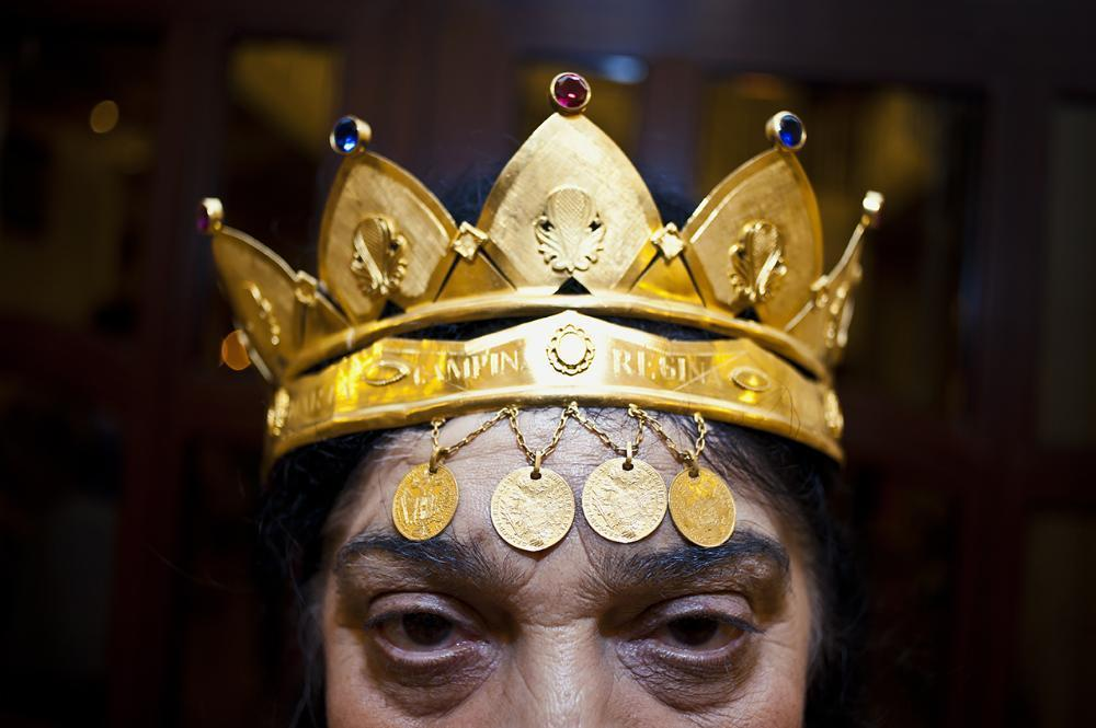 Gold is an essential part of Roma culture, especially for the queen of the witches, Maria Câmpina